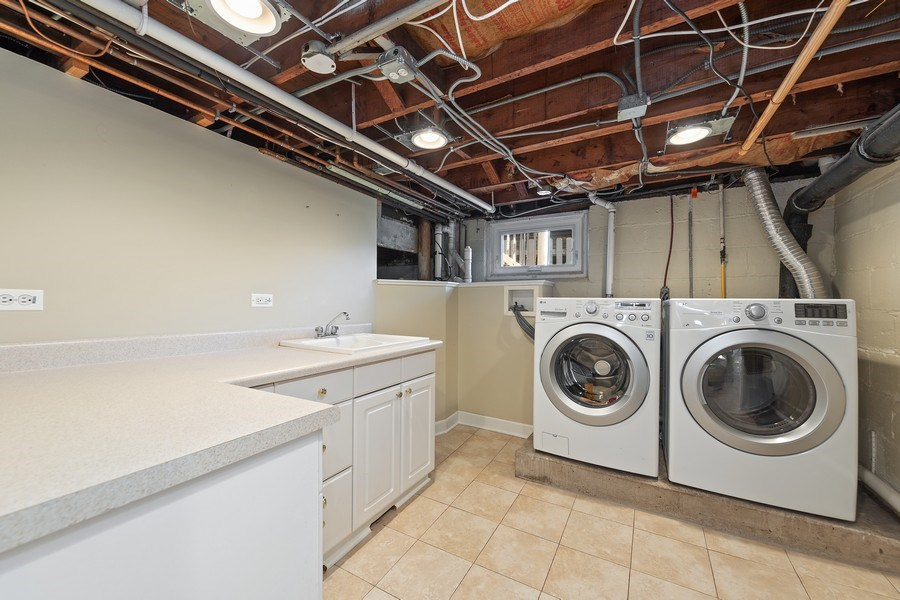 Real Estate Photography - 343 Bryant Ave, Glen Ellyn, IL, 60137 - Laundry Room