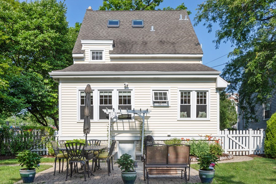 Real Estate Photography - 343 Bryant Ave, Glen Ellyn, IL, 60137 - Rear View