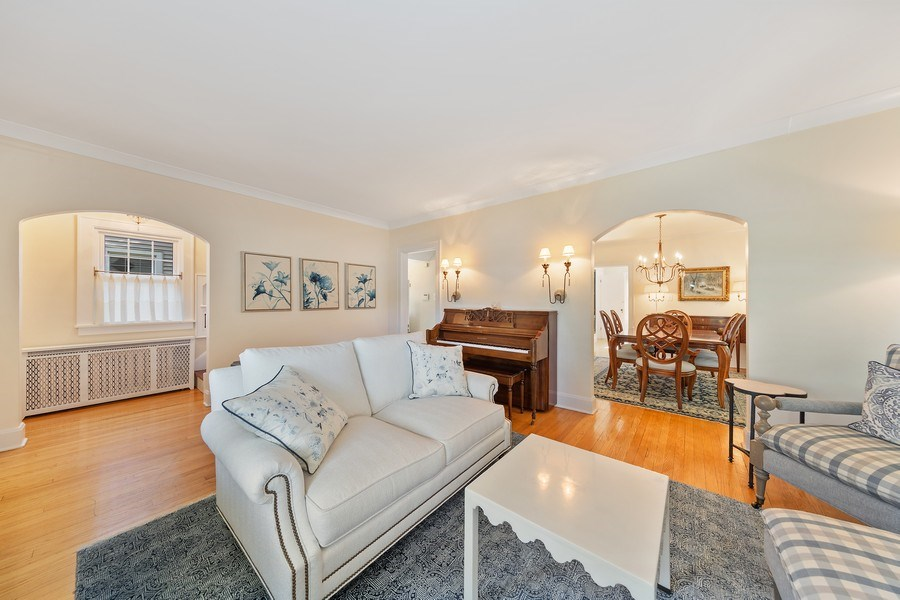 Real Estate Photography - 343 Bryant Ave, Glen Ellyn, IL, 60137 - Living Room / Dining Room