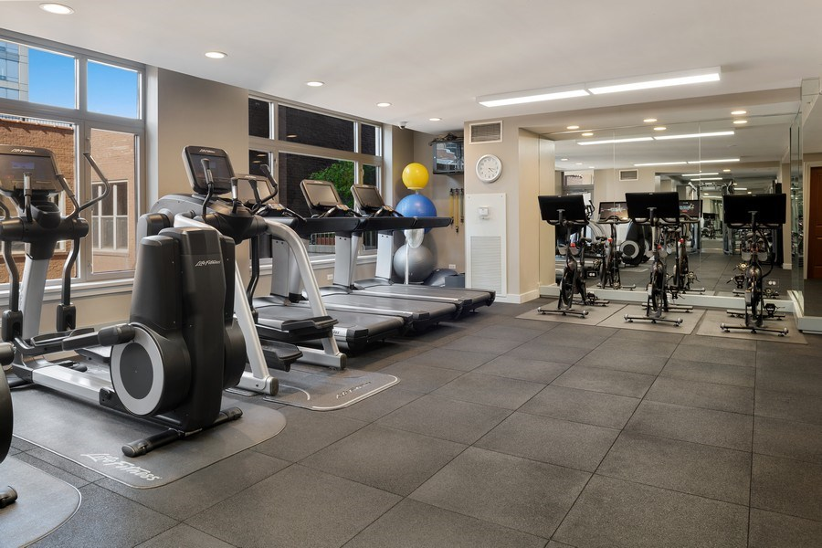 Real Estate Photography - 530 N Lake Shore Dr, Unit 1303, Chicago, IL, 60611 - Gym