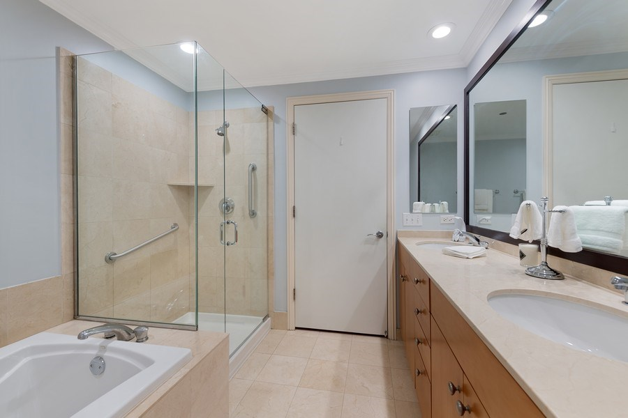 Real Estate Photography - 530 N Lake Shore Dr, Unit 1303, Chicago, IL, 60611 - Master Bathroom