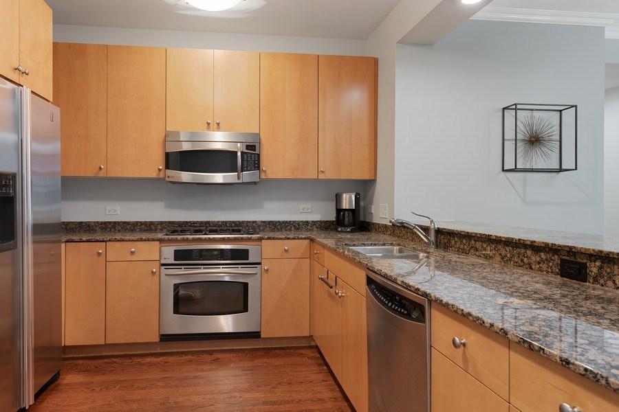 Real Estate Photography - 530 N Lake Shore Dr, Unit 1303, Chicago, IL, 60611 - Kitchen