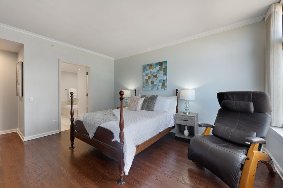 Real Estate Photography - 530 N Lake Shore Dr, Unit 1303, Chicago, IL, 60611 - Master Bedroom