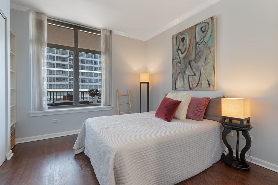 Real Estate Photography - 530 N Lake Shore Dr, Unit 1303, Chicago, IL, 60611 - 2nd Bedroom