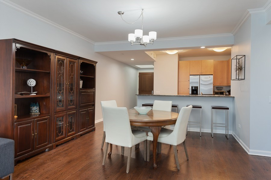 Real Estate Photography - 530 N Lake Shore Dr, Unit 1303, Chicago, IL, 60611 - Dining Room