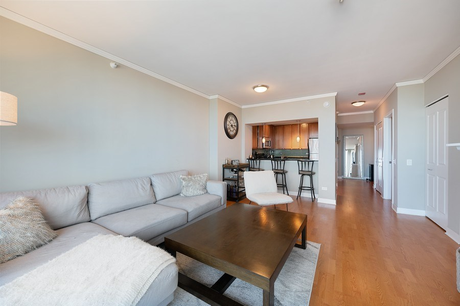 Real Estate Photography - 200 N Jefferson, Unit 1302, Chicago, IL, 60661 - Living Room