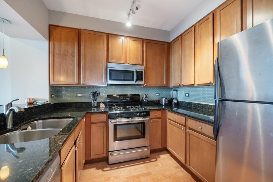 Real Estate Photography - 200 N Jefferson, Unit 1302, Chicago, IL, 60661 - Kitchen