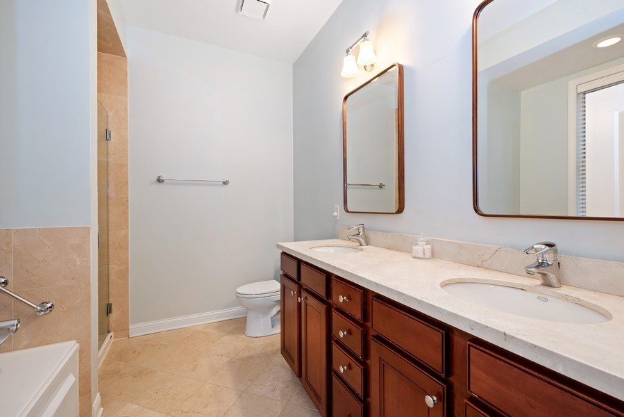 Real Estate Photography - 4721 N. Clark St., 2S, Chicago, IL, 60640 - Master Bathroom