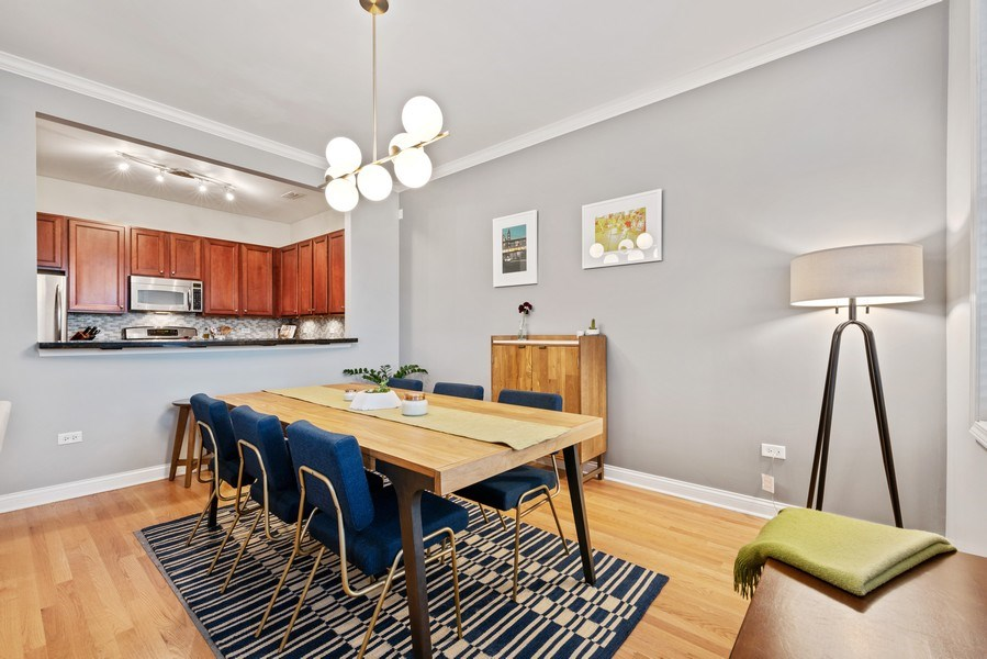 Real Estate Photography - 4721 N. Clark St., 2S, Chicago, IL, 60640 - Dining Room