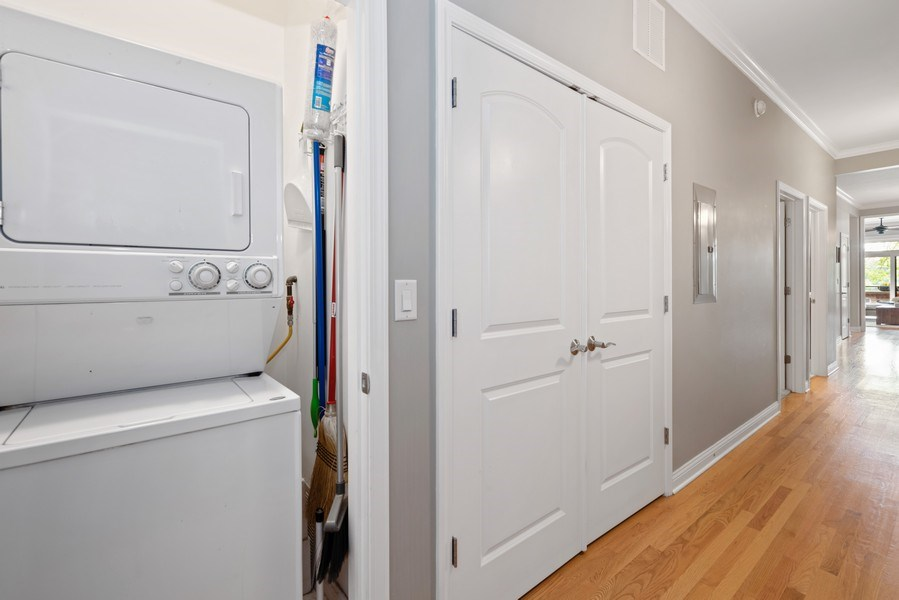 Real Estate Photography - 4721 N. Clark St., 2S, Chicago, IL, 60640 - Laundry Room