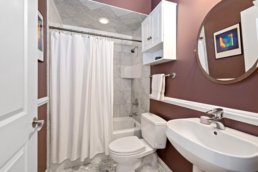 Real Estate Photography - 4721 N. Clark St., 2S, Chicago, IL, 60640 - Bathroom