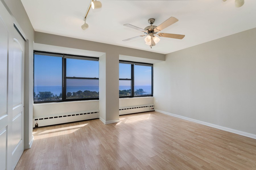 Real Estate Photography - 3410 N Lake Shore Drive, #15D, Chicago, IL, 60657 - Master Bedroom