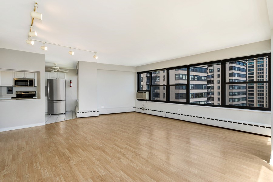 Real Estate Photography - 3410 N Lake Shore Drive, #15D, Chicago, IL, 60657 - Living Room/Dining Room