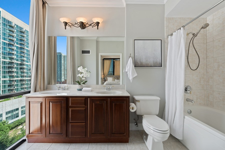 Real Estate Photography - 435 West Erie Unit 1007, Chicago, IL, 60654 - Master Bathroom