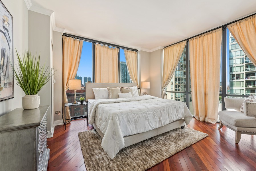 Real Estate Photography - 435 West Erie Unit 1007, Chicago, IL, 60654 - Master Bedroom