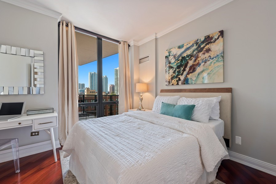 Real Estate Photography - 435 West Erie Unit 1007, Chicago, IL, 60654 - 2nd Bedroom