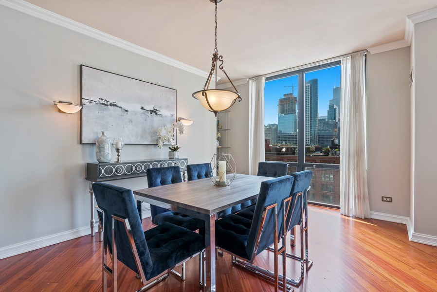Real Estate Photography - 435 West Erie Unit 1007, Chicago, IL, 60654 - Dining Room