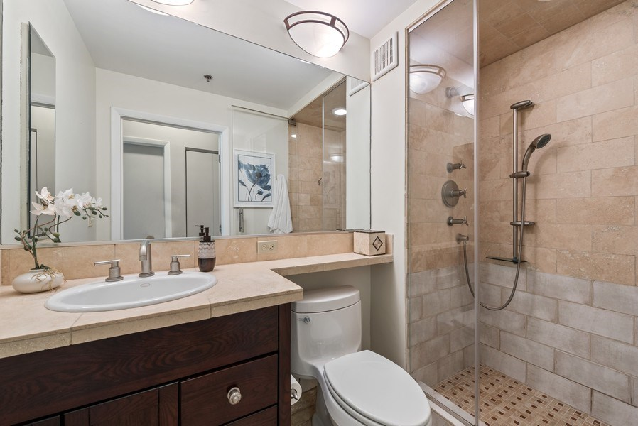Real Estate Photography - 435 West Erie Unit 1007, Chicago, IL, 60654 - 2nd Bathroom