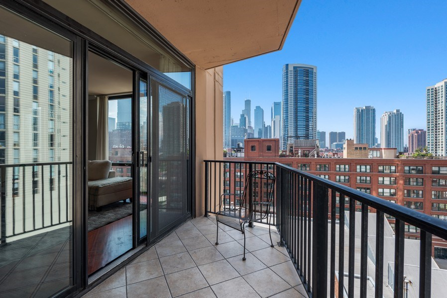 Real Estate Photography - 435 West Erie Unit 1007, Chicago, IL, 60654 - Balcony