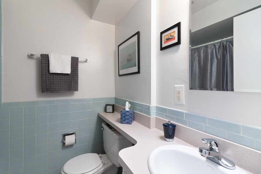Real Estate Photography - 10740 W Cermak Rd, Westchester, IL, 60154 - 2nd Bathroom