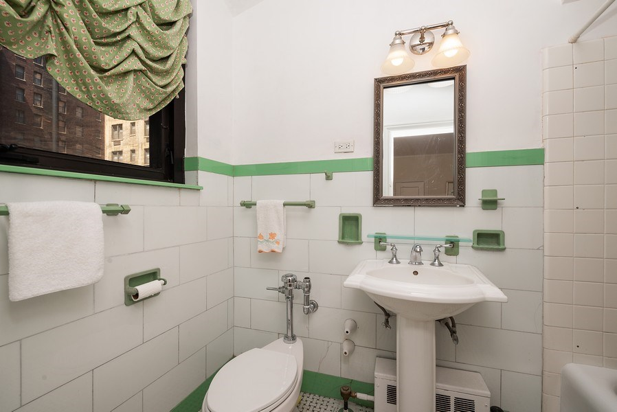 Real Estate Photography - 222 E Chestnut St, Unit 7D, Chicago, IL, 60611 - Master Bathroom