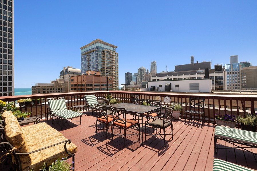 Real Estate Photography - 222 E Chestnut St, Unit 7D, Chicago, IL, 60611 - Roof Deck
