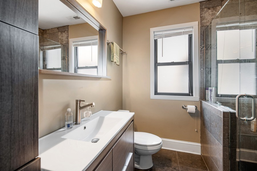 Real Estate Photography - 6118 N. Campbell Avenue, Chicago, IL, 60659 - Master Bathroom