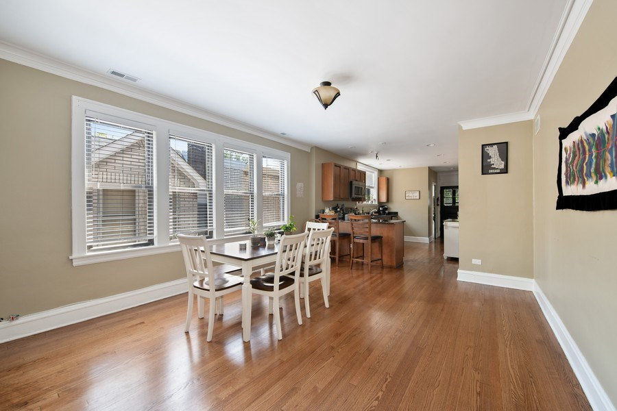 Real Estate Photography - 6118 N. Campbell Avenue, Chicago, IL, 60659 - Dining Room
