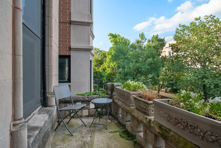 Real Estate Photography - 3618 N Fremont, Unit 2, Chicago, IL, 60613 - Terrace