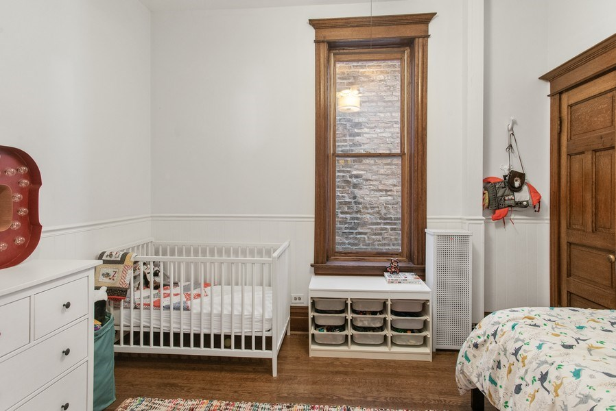 Real Estate Photography - 3618 N Fremont, Unit 2, Chicago, IL, 60613 - 2nd Bedroom