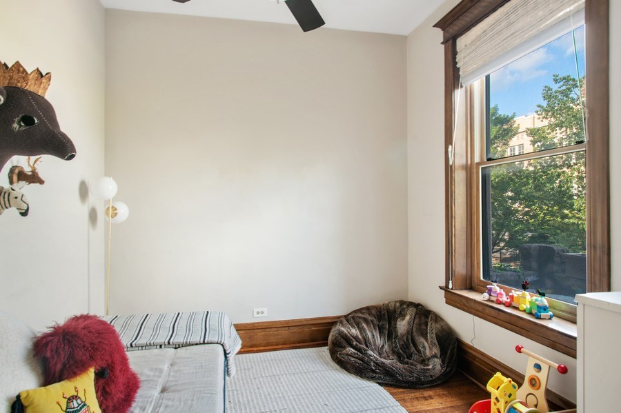 Real Estate Photography - 3618 N Fremont, Unit 2, Chicago, IL, 60613 - 3rd Bedroom