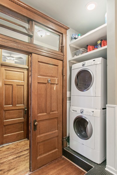 Real Estate Photography - 3618 N Fremont, Unit 2, Chicago, IL, 60613 - Laundry Room