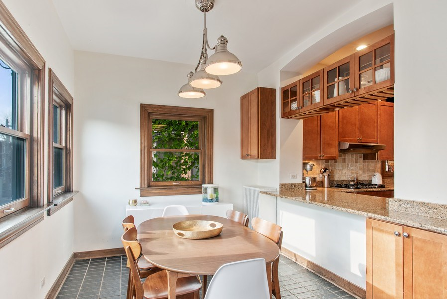 Real Estate Photography - 3618 N Fremont, Unit 2, Chicago, IL, 60613 - Breakfast Nook