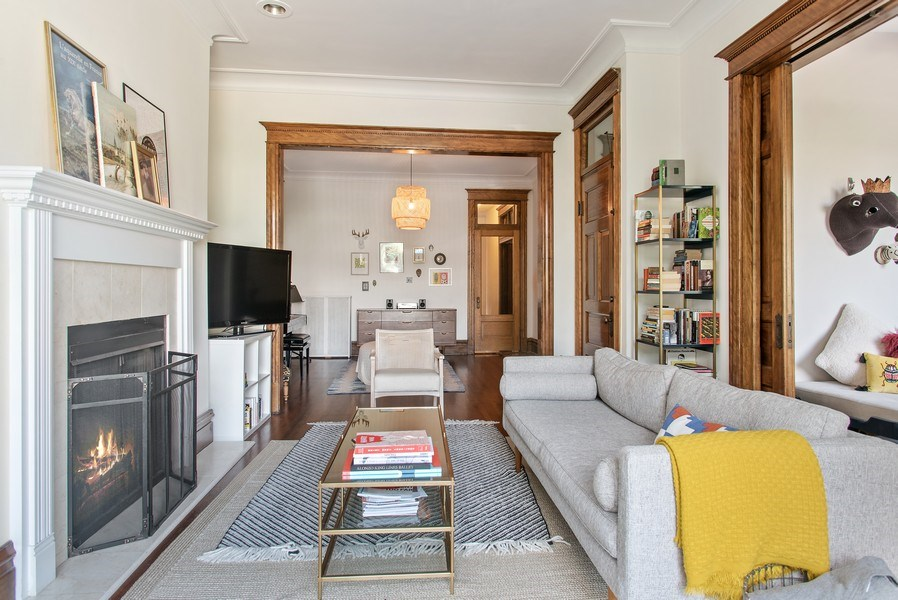 Real Estate Photography - 3618 N Fremont, Unit 2, Chicago, IL, 60613 - Living Room / Dining Room