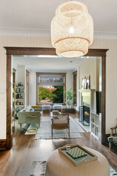 Real Estate Photography - 3618 N Fremont, Unit 2, Chicago, IL, 60613 - Living Room/Dining Room