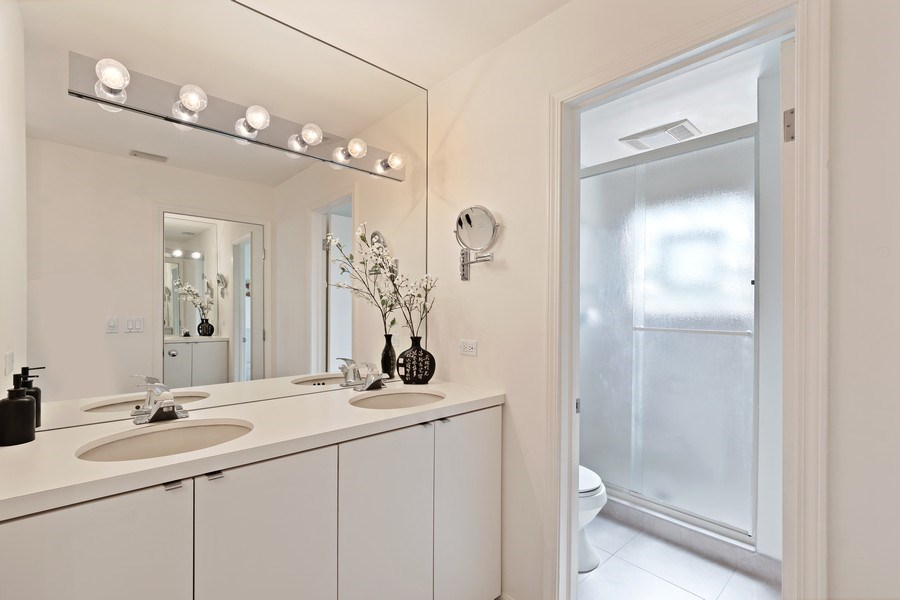 Real Estate Photography - 1682 Cavell, Highland Park, IL, 60035 - Master Bathroom