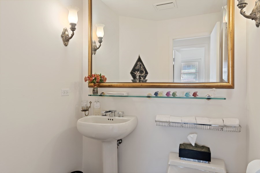 Real Estate Photography - 1682 Cavell, Highland Park, IL, 60035 - Powder Room
