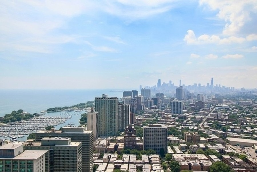 Real Estate Photography - 3660 N Lake Shore Dr, Chicago, IL, 60613 - South View From Sundeck