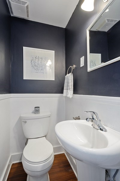 Real Estate Photography - 614 Division St, Barrington, IL, 60010 - Powder Room