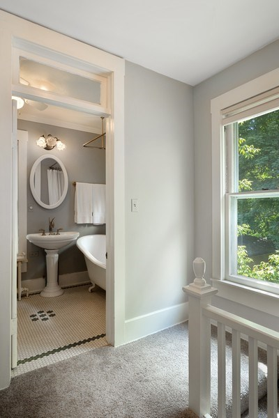 Real Estate Photography - 315 W Lincoln Ave, Barrington, IL, 60010 - 2nd Bathroom