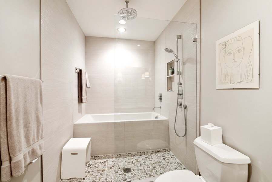 Real Estate Photography - 375 W Erie St, unit 501, Chicago, IL, 60654 - Master Bathroom