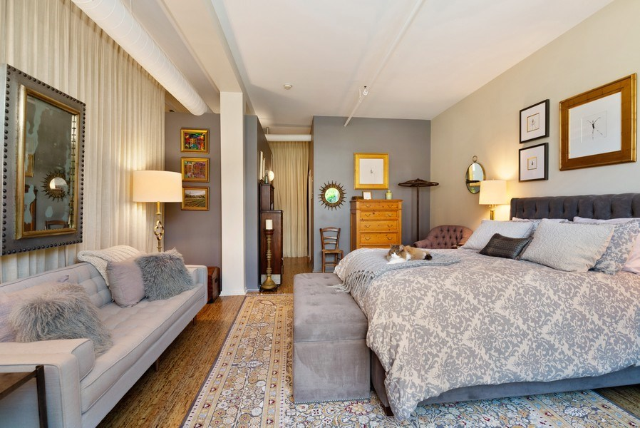 Real Estate Photography - 375 W Erie St, unit 501, Chicago, IL, 60654 - Master Bedroom