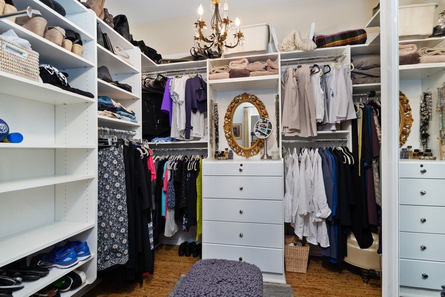 Real Estate Photography - 375 W Erie St, unit 501, Chicago, IL, 60654 - Master Bedroom Closet