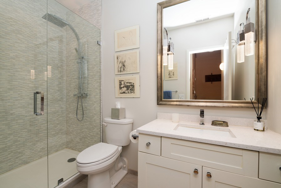 Real Estate Photography - 375 W Erie St, unit 501, Chicago, IL, 60654 - 2nd Bathroom
