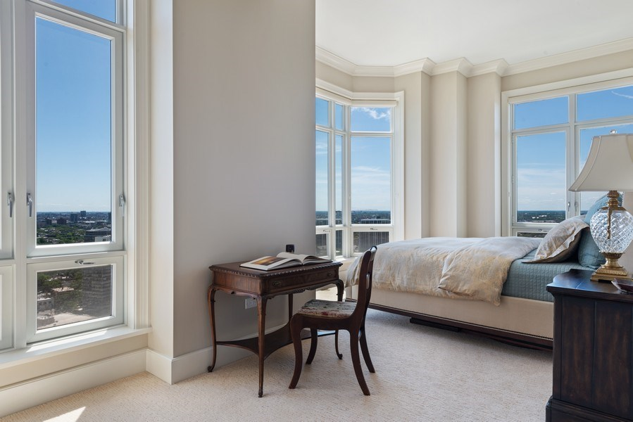 Real Estate Photography - 2550 N Lakeview, S2501, Chicago, IL, 60614 - Master Bedroom