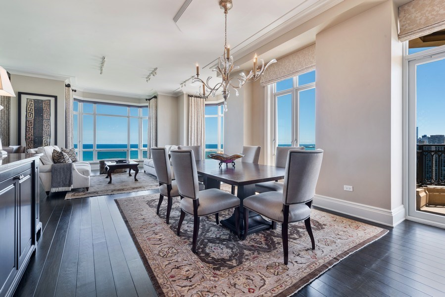 Real Estate Photography - 2550 N Lakeview, S2501, Chicago, IL, 60614 - Dining Room