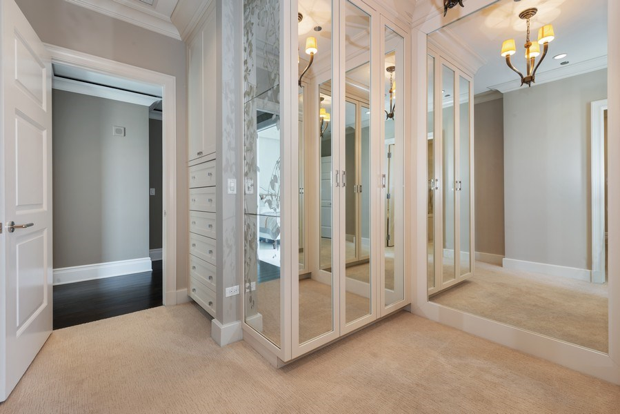 Real Estate Photography - 2550 N Lakeview, S2501, Chicago, IL, 60614 - Master Bedroom Closet