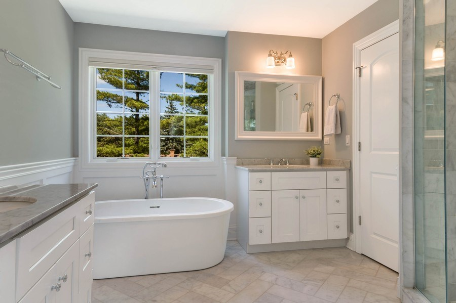 Real Estate Photography - 330 Nora Ave, Glenview, IL, 60025 - Master Bathroom