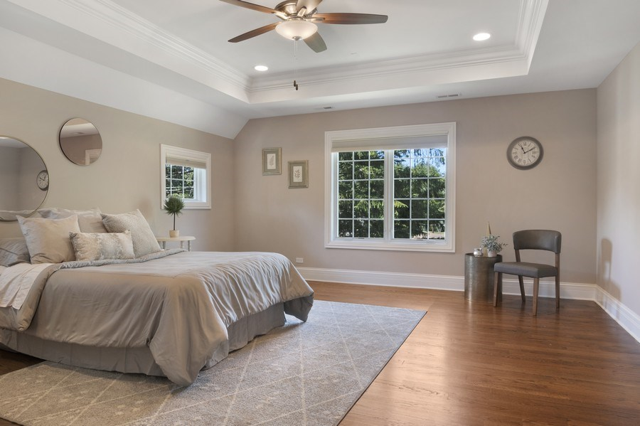 Real Estate Photography - 330 Nora Ave, Glenview, IL, 60025 - Master Bedroom