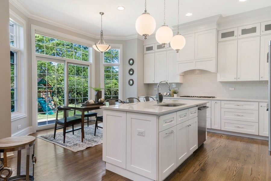 Real Estate Photography - 330 Nora Ave, Glenview, IL, 60025 - Kitchen / Breakfast Room